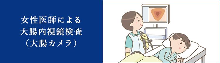 女性医師による大腸内視鏡検査(大腸カメラ)